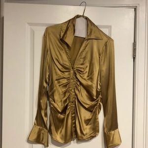Silk Gold blouse